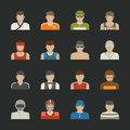 Sport people icon eps vector format Stock Photos