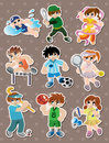 Sport player stickers Stock Images