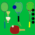 Sport rackets - vector Royalty Free Stock Photo