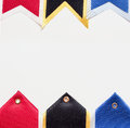 Sport ribbons background with white copy space Royalty Free Stock Image