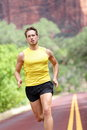 Sport - running fitness man Royalty Free Stock Images