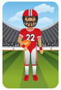 Sport series: American football player Royalty Free Stock Image