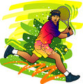 Sport series: Tennis player Royalty Free Stock Images