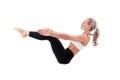 Sport series yoga balance beautiful young woman doing Royalty Free Stock Photo