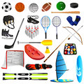 Sport set illustration of with white background Royalty Free Stock Image
