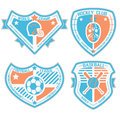 Sport shield and emblem Royalty Free Stock Photo