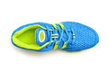 Sport shoe closeup detail isolated Stock Image