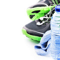 Sport Shoes And Water Bottle. ...