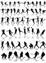 Sport Silhouettes Stock Photo