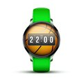 Sport Smart watch with time and basketball ball Royalty Free Stock Photo