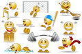 Sport smile cartoon character Royalty Free Stock Image