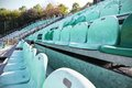 Sport stadium and row of chair Royalty Free Stock Photography
