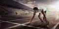 Sport. Starting runner. Royalty Free Stock Photo