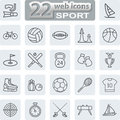 Sport Symbols Icons Royalty Free Stock Photo
