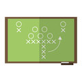 sport tactics chalkboard american football Royalty Free Stock Photo