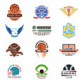 Logos for sports teams with different balls