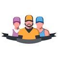 Sport team illustration