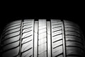 Sport tire high performance summer for cars studio shot Royalty Free Stock Photos