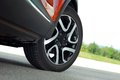 Sport wheel tire and alloy on this high performance sports car Royalty Free Stock Photography
