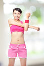 Sport woman warm up Royalty Free Stock Photo