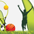 Sporting balls. Recreation background Royalty Free Stock Photos