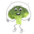Sporting broccoli Stock Photo