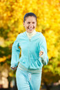 Sporting exercise. Jogging woman Royalty Free Stock Photo