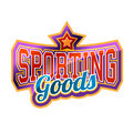 Sporting goods sign bright and shiny Stock Photography