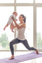 Sporting mom and baby Royalty Free Stock Photo