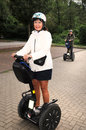 Sportive seniors senior couple on segway tour Royalty Free Stock Photography