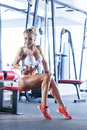 Sportive woman at the gym Royalty Free Stock Photo