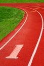 Sportowy ślad Obraz Stock