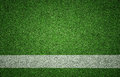 Sports background on grass texture white painted line green with grunge lighting and lots of copy space perfect for sport designs Stock Images