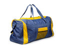 Sports bag large nylon on white Stock Images