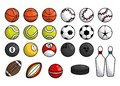 Sports balls equipment collection banner Royalty Free Stock Photo