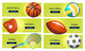 Sports balls and equipment icons of gaming accessories Royalty Free Stock Photo