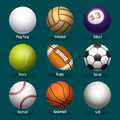 Sports balls icons Royalty Free Stock Photo
