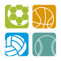 Sports balls over white background vector illustration Stock Image