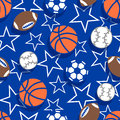 Sports balls seamless pattern a Royalty Free Stock Images