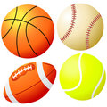 Sports Balls - Vector Royalty Free Stock Photo
