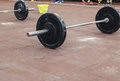 Sports barbell close up in the gym Royalty Free Stock Photo