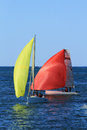 Sports boats sailing boat australian boat association qld titles th of october Royalty Free Stock Photo