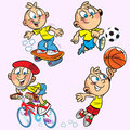 Sports boy Royalty Free Stock Photo