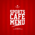 Sports Cafe Menu card template. Royalty Free Stock Photo