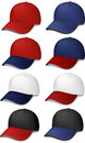 Sports Caps - realistic vector illustrations Royalty Free Stock Image
