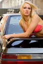 Sports Car Blonde Stock Photo