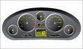 Sports car dashboard Stock Image