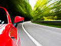 Sports car driving Royalty Free Stock Photography