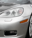 Sports car headlight. Royalty Free Stock Photo