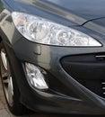 Sports car headlight grey Royalty Free Stock Photo